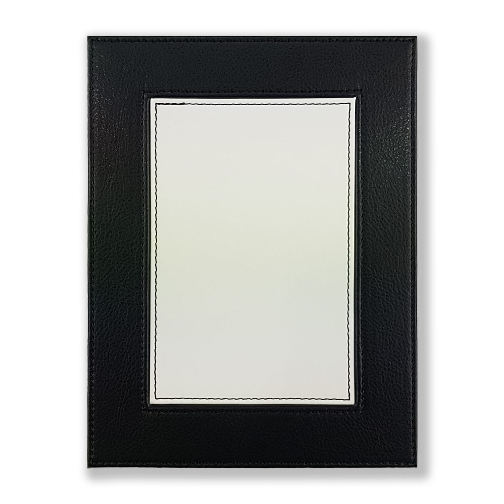 Our luxury faux leather picture frames can take pride of place at home or in the office, and with a swivel stand they can display portrait or landscape.