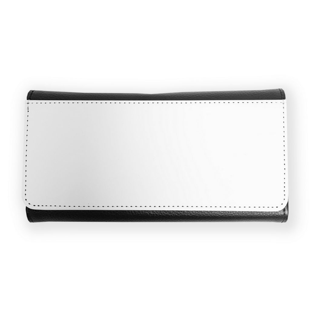 The faux leather Ladies 3 Fold Purse has plenty of storage including a zips, credit card slots, coin pouch and clear driving license/photo panel.